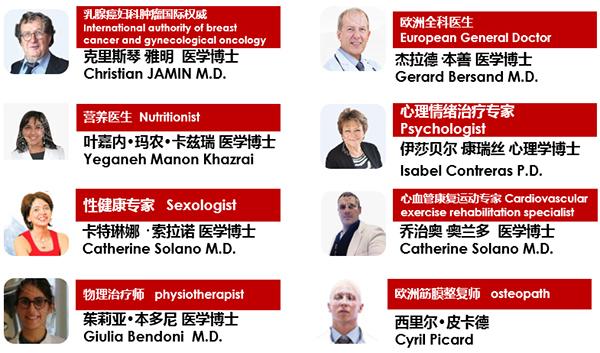 瑞士领誉医疗乳腺肿瘤全程管理专家团队