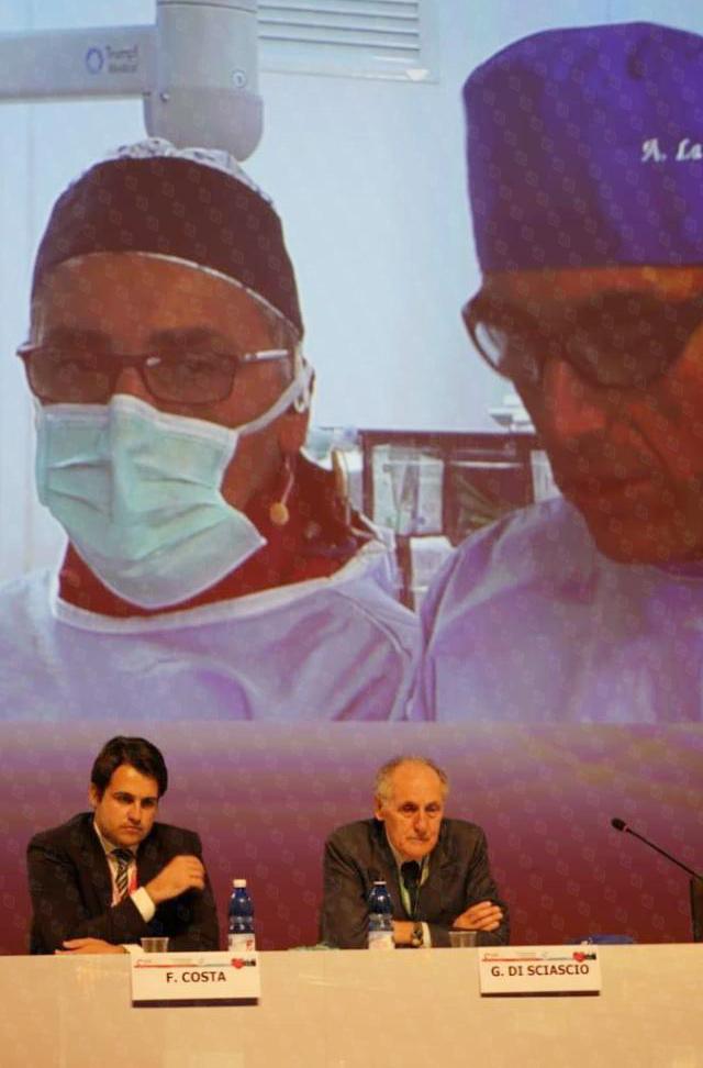 格尔马诺·迪夏希奥教授担任意大利介入心脏病学学会专题会议主席并主持会议