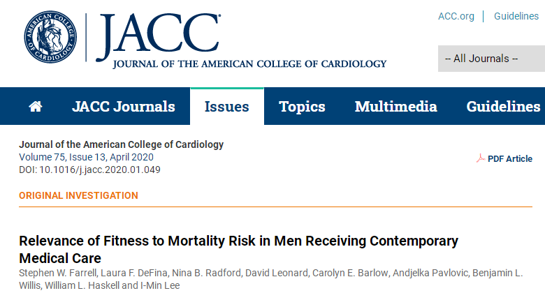30年前,心肺健康和死亡率之间的负相关已得到有力证明。健身运动作为防治疾病的一味 … <a href=
